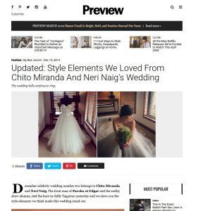 Preview.ph - Chito Miranda and Neri Naig Wedding | Dec 2014
