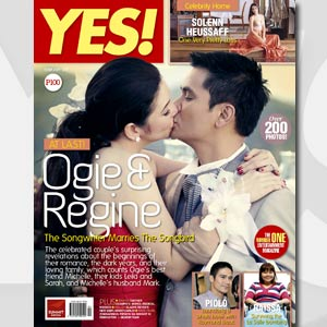 Yes Magazine - Ogie Alcasid - Regine Velasquez Wedding