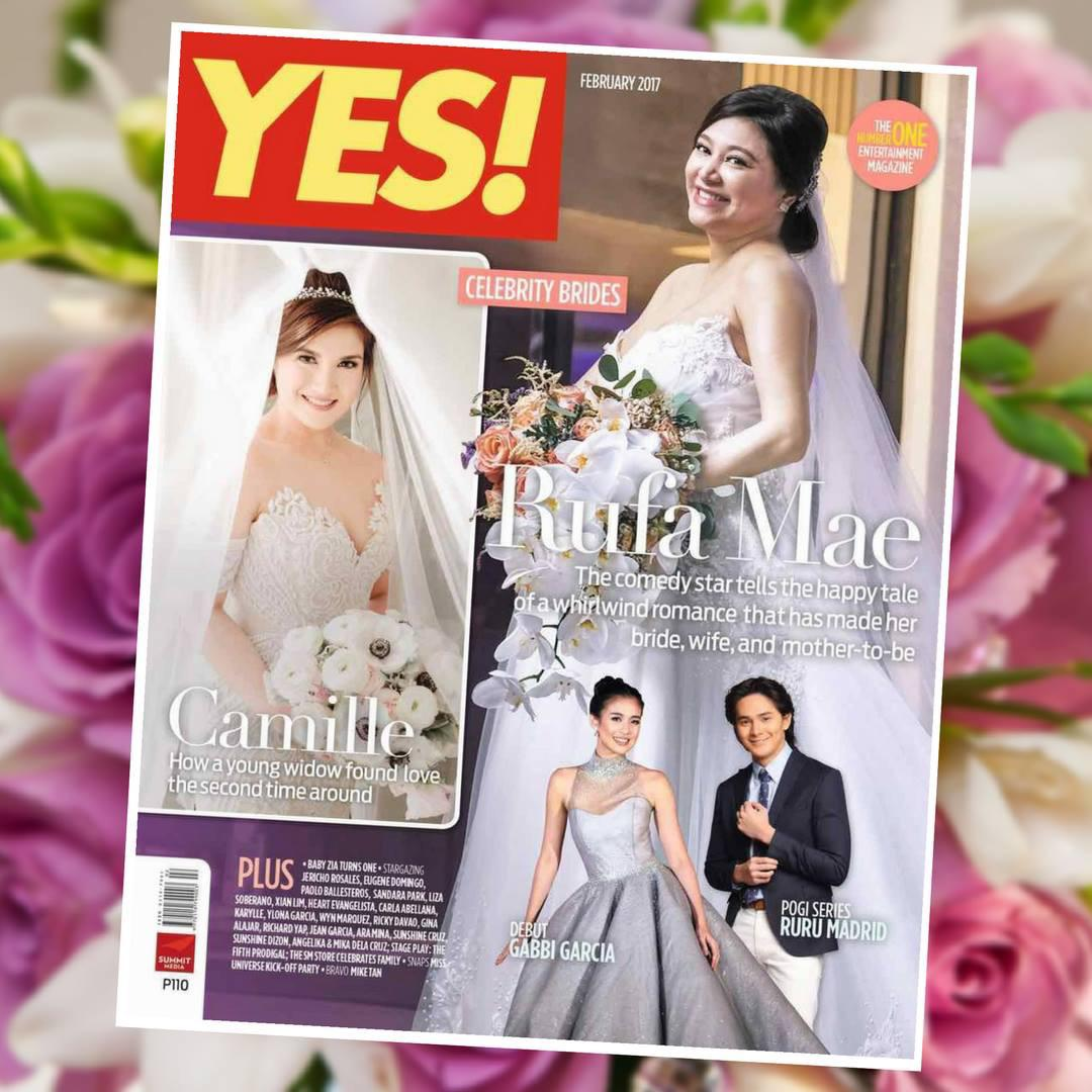 Yes Magazine - Rufa Mae Quinto and Trevor Magallanes Wedding | Feb 2017