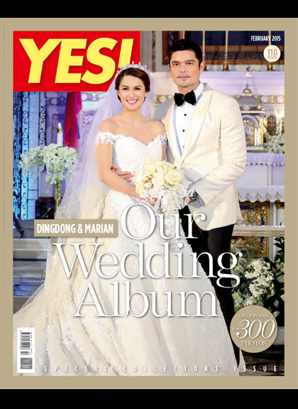 Yes Magazine - Dingdong Dantes - Marian Rivera Wedding | January 2014