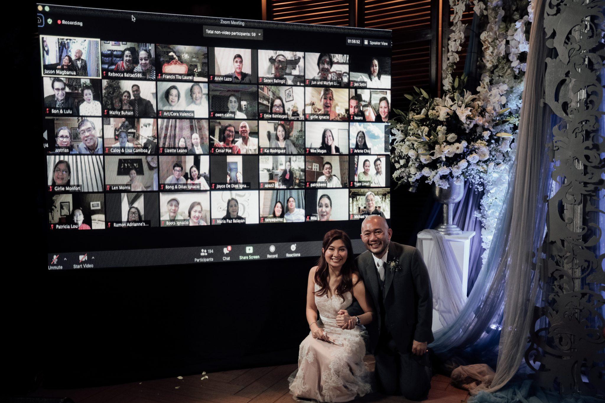 Intimate wedding, bride, covid wedding